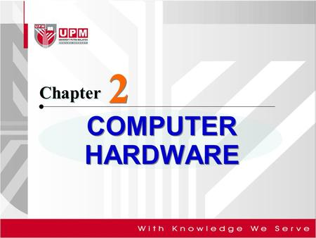 2 Chapter <strong>COMPUTER</strong> HARDWARE.