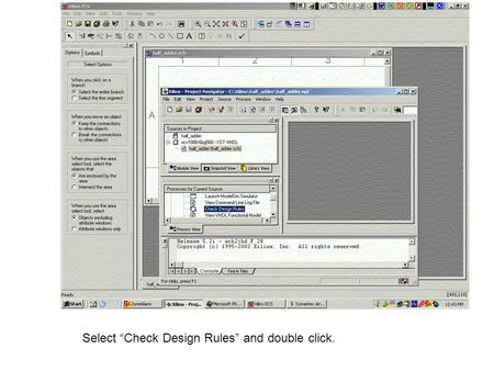 "Select ""Check Design Rules"" and double click.. Screen after double clicking on ""Check Design Rules"""