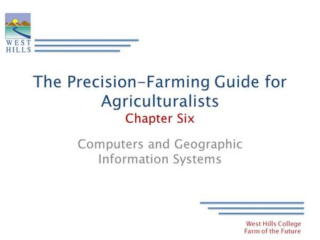 The Precision-Farming Guide for Agriculturalists Chapter Six