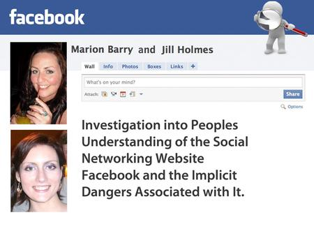 Outline of presentation Brief introduction of Facebook as a social networking tool Research questions Methods Findings and Results Some Experimentation.