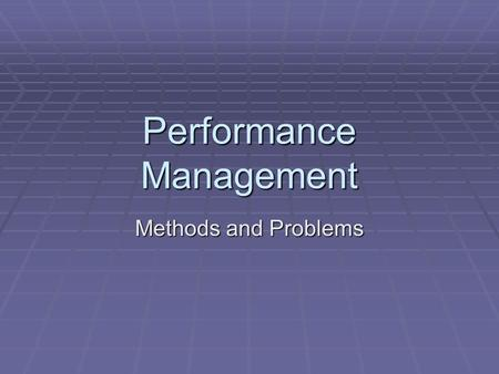 Performance Management Methods and Problems. When it goes wrong.  GE's Superabraisives.