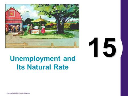 Copyright © 2004 South-Western 15 Unemployment and Its Natural Rate.