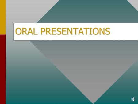 ORAL PRESENTATIONS Introduction Delivering your presentations effectively involves using a proven four-step process: Plan, Prepare, Practice, and Present.