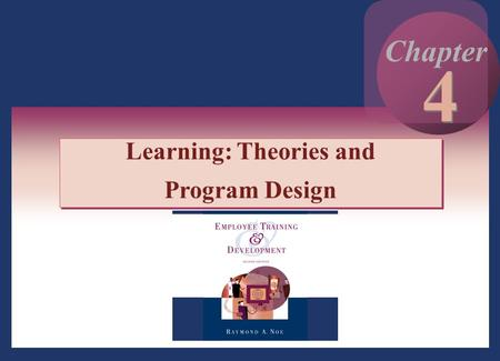 Copyright © 2002 by The McGraw-Hill Companies, Inc. All rights reserved. 4 - 1 4 4 Chapter Learning: Theories and Program Design Learning: Theories and.