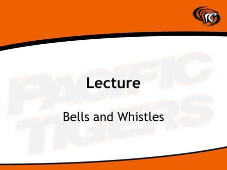 Lecture Bells and Whistles. Ways to Enhance Websites Java Script and Java Sound and Video Flash XML (Extended Markup Language Database Connectivity Ecommerce.