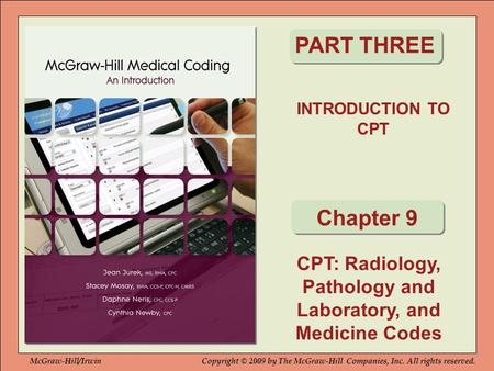 CPT: Radiology, Pathology and Laboratory, and Medicine Codes