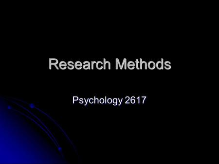 Research Methods Psychology 2617. Or, so how do we know this stuff We can look at the whole brain We can look at the whole brain We can look at parts.