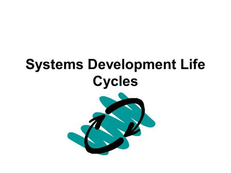 Systems Development Life Cycles. The Traditional Systems Development Life Cycle.