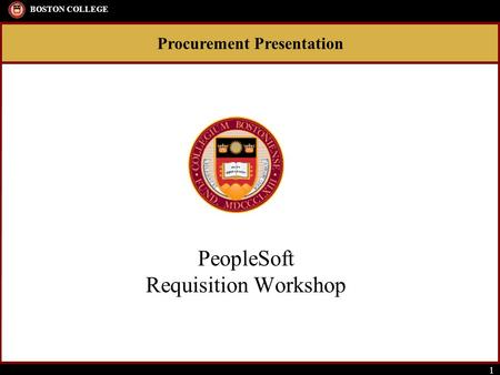 PeopleSoft Requisition Workshop