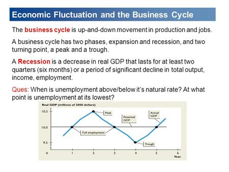 Economic Fluctuation and the Business Cycle