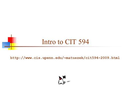 Intro to CIT 594