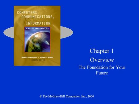 Chapter 1 Overview The Foundation for Your Future © The McGraw-Hill Companies, Inc., 2000.