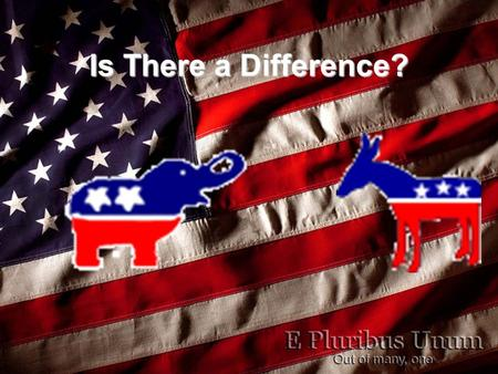"Is There a Difference?. How Should You Vote? Is ""Big Government"" better?Is ""Big Government"" better? –Republicans want less government involvement. –Democrats."
