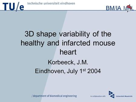 3D shape variability of the healthy and infarcted mouse heart
