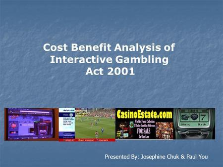 Cost benefit analysis gambling casino down tioga