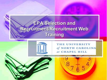EPA Recruitment and Selection Process I.BACKGROUND : EQUAL OPPORTUNITY/AFFIRMATIVE ACTION OBLIGATIONS II.DEVELOPING RECRUITMENT PLANS III.EPA RECRUITMENT.