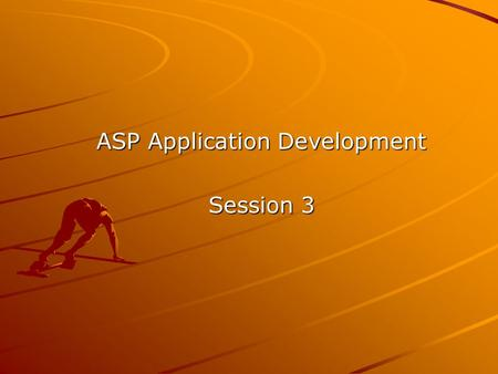 ASP Application Development Session 3. Topics Covered Using SQL Statements for: –Inserting a tuple –Deleting a tuple –Updating a tuple Using the RecordSet.