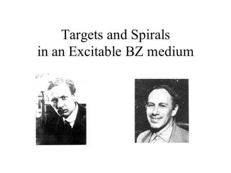 Targets and Spirals in an Excitable BZ medium.