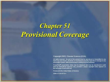 Provisional Coverage Chapter 51