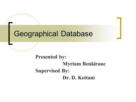 Geographical Database