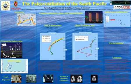 The Paleoventilation of the South Pacific The Paleoventilation of the South Pacific Sarah Hope Edwards 1, Elizabeth Sikes 2, Thomas Guilderson 3 1 University.