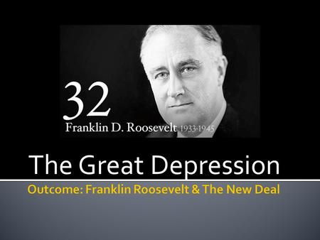franklin d roosevelt and the new deal 2 essay Read this american history essay and over 88,000 other research documents franklin d roosevelt - new deal after the devastation of the great depression, franklin d.