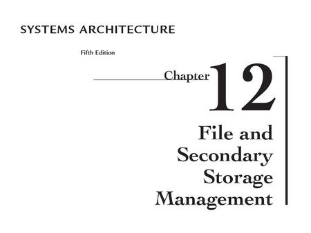 an understanding of the components and functions of file management systems Establish a records management component in institutional information   request the development of file naming standards to support electronic filing  systems.