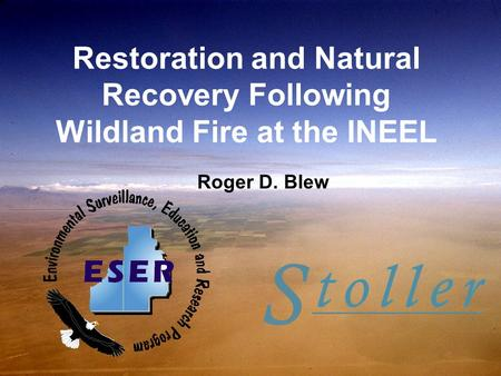 Restoration and Natural Recovery Following Wildland Fire at the INEEL Roger D. Blew.