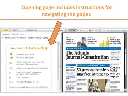 Opening page includes instructions for navigating the paper.