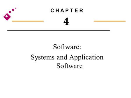 Software: Systems and Application Software C H A P T E R 4.