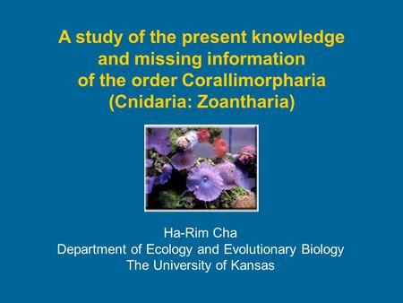 A study of the present knowledge and missing information