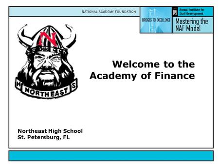 Welcome to the Academy of Finance