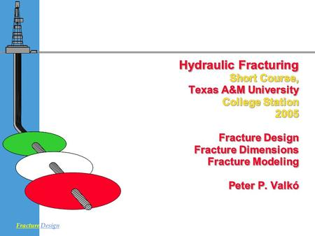 4/16/2017 Hydraulic Fracturing 	Short Course, 	Texas A&M University 	College Station 	2005 Fracture Design 	 Fracture Dimensions 	 Fracture Modeling.