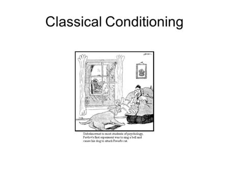Classical Conditioning. Associative Learning Nonassociative HabituationSensitization A single type of stimulus The relationship between two stimuli Classical.