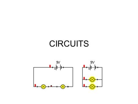 CIRCUITS. ELECTRON FLOW IN CIRCUITS In metals, electric current is a flow of electrons. How fast do these electrons move? Electrons flow, at speeds on.