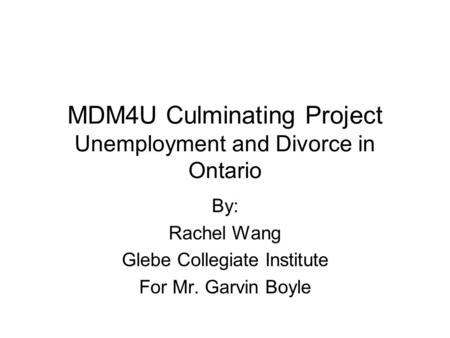 unemployment and divorce