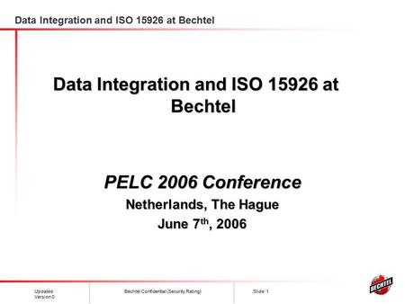 Data Integration and ISO at Bechtel