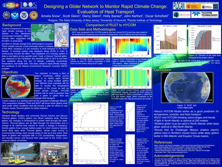 Designing a Glider Network to Monitor Rapid Climate Change: Evaluation of Heat Transport Amelia Snow 1, Scott Glenn 1, Darcy Glenn 2, Holly Ibanez 3, John.