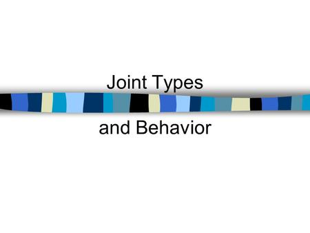 Joint Types and Behavior. Rigid Pavement Design Course Jointing Patterns.