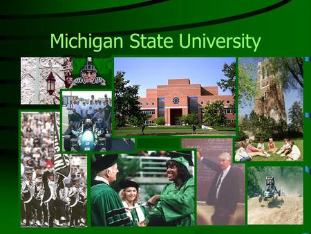 Michigan State University. Engineering Today and Tomorrow … at MSU, in Michigan and Beyond Thomas F. Wolff, Ph.D., P.E. Associate Dean of Engineering.