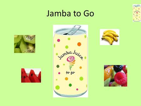 Jamba to Go. Jamba to Go! You've been running around all day—soccer game, gymnastics, errands—no time for yourself! You're really dragging, but there's.
