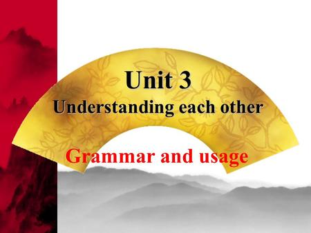 Unit 3 Understanding each other Grammar and usage.