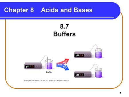 Chapter 8 Acids and Bases