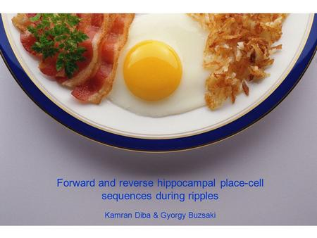 Forward and reverse hippocampal place-cell sequences during ripples Kamran Diba & Gyorgy Buzsaki.