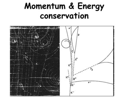 Momentum & Energy conservation. Momentum Newton's 2 nd law (shorthand version) F = ma a = change in v time F = m change in v time.