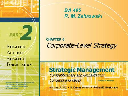 CHAPTER 6 Corporate-Level Strategy