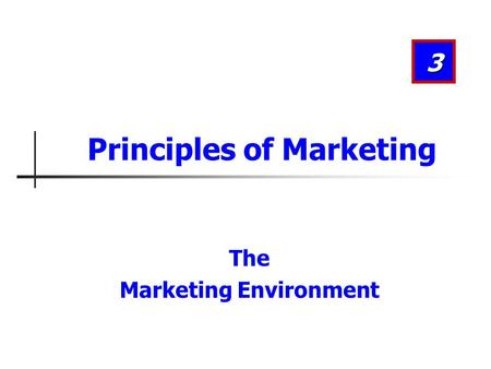 Introduction to the Principles of Marketing