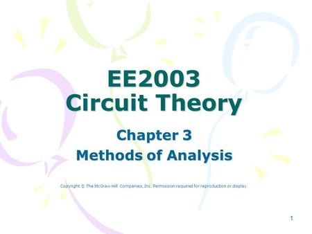 Chapter 3 Methods of Analysis