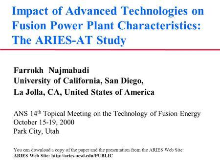 Impact of advance technology