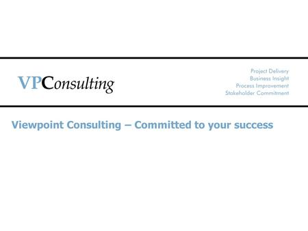 Viewpoint Consulting – Committed to your success.